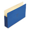 ColorLife 5 1/4 Inch Expansion Pockets, Straight Tab, Legal, Dark Blue, 10/Box