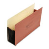 Seven Inch Expansion File Pocket, Straight, Legal, Redrope, 10/Box