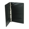 "Legal Size 4-Ring Binder, 14 x 8-1/2, 1"" Capacity, Black"