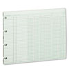 Wilson Jones Accounting Sheets, Six Column, 9-1/4 x 11-7/8, 100 Loose Sheets/Pack, Green