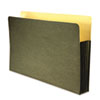 Recycled File Pocket, Straight Cut, Legal, 3 1/2 Inch Expansion, Green