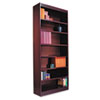 Square Corner Wood Veneer Bookcase, 7-Shelf, 35-3/8w x 11-3/4d x 84h, Mahogany