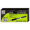 Zebra Sarasa Retractable Gel Pen, Black Ink, Medium, 24/Pack