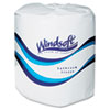 Windsoft Facial Quality Toilet Tissue, 2-Ply, Single Roll, 24 Rolls/Carton