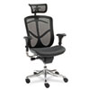 EQ Series Ergonomic Multifunction High-Back Mesh Chair, Aluminum Base