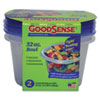 GoodSense Storage Bowls and Lids, 32 oz, Clear, 2/Pack