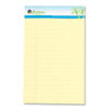 Sugarcane Based Writing Pads, Wide Rule, 8 x 5, Canary, 2 50-Sheet Pads/Pack