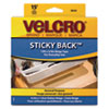 Velcro Sticky-Back Hook and Loop Fastener Tape with Dispenser, 3/4 x 15 ft. Roll, Beige