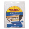 Velcro Sticky-Back Hook and Loop Fastener Tape with Dispenser, 3/4 x 5 ft. Roll, Black