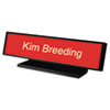 Architectural Desk Sign with Name Plate, Black, Radius Edge