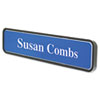 Architectural Wall Sign, 1 3/4 x9, Radius Corners, Black