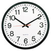 Round Wall Clock, 11-1/2 in, Black