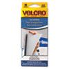 Velcro Hook Only Presentation Hangers, 3/4 x 1 1/8 Chevrons, White, 48/Pack