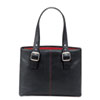 Ladies Laptop Tote with Padded Pocket, Vinyl, 14 x 3 3/4 x 17 1/2, Black