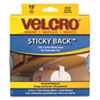 Velcro Sticky-Back Hook and Loop Fastener Tape with Dispenser, 3/4 x 15 ft. Roll, White
