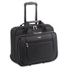 Rolling Laptop Case, Polyester, 17 x 10 x 15, Black