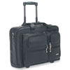 "Rolling Leather Laptop Case For Up To 15.6"" Laptop, Black"
