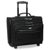 Rolling Laptop Case/Overnighter, Ballistic Poly, 16-1/2 x 6.5 x 13, Black