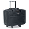 Rolling Laptop Case, Poly, 16 x 6 1/2 x 15, Black