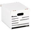 Economy Storage Box, Lift-Off Lid, Letter/Legal. White, 12/Ct