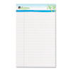 Sugarcane Based Writing Pads, Wide Rule, 8 x 5, White, 2 50-Sheet Pads/Pack