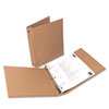 "Universal One Eco-Friendly Round Ring Natural Kraft Binder, 11 x 8-1/2, 1"" Capacity"