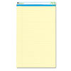 Universal Sugarcane Based Writing Pads, Wide Rule, 14 x 8-1/2, Canary, 2 50-Sheet Pads/Pk