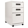 Three-Drawer Mobile Pedestal File, 16w x 23-1/4d x 28-1/2h, Light Gray