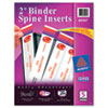 "Avery Custom Binder Spine Inserts, 2"" Spine Width, 4 Inserts/Sheet, 5 Sheets/Pack"