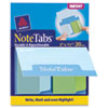 Avery NoteTabs-Notes, Tabs and Flags in One, Cool Blue/Green, Two Inch, 20/PK
