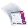 Top-Load Clear Vinyl Envelopes w/Thumb Notch, 9 x 12 Insert Size, 10/Pack