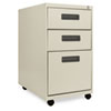 Three-Drawer Mobile Pedestal File, 16w x 23-1/4d x 28-1/2h, Putty