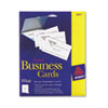 Avery Two-Side Printable Business Cards, Laser, 2 x 3-1/2, White, Uncoated, 250/Pack