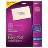Avery Easy Peel Mailing Labels For Inkjet Printers, 1-1/3 x 4, Clear, 140/Pack