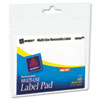 Removable Label Pads, 2 x 4, White, 40/Pack