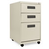 Three-Drawer Mobile Pedestal File, 16w x 19-1/2d x 28-1/2h, Putty