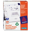 Top-Load Recycled Polypropylene Sheet Protector, Semi-Clear, 200/Pack