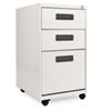 Three-Drawer Mobile Pedestal File, 16w x 19-1/2d x 28-1/2h, Light Gray