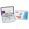 First Aid Kit for up to 75 People, Contains 419 Pieces, Metal