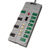 Tripp Lite TLP1210SATG Eco Surge Green, 12 Outlets, 10 ft Cord, 3600 Joules, Gray