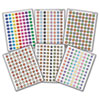 Mini Stickers Variety Pack, Six Assorted Designs/Colors, 3,168/Pack