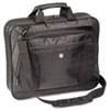 CityLite Laptop Case, Nylon, 15-3/4 x 4 x 13-3/4, Black/Gray