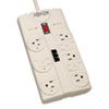 Tripp Lite TLP808TEL Surge Suppressor, 8 Outlet, RJ11, 8ft Cord, 2160 Joules