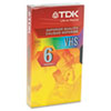 TDK Standard Grade VHS Videotape Cassette, 6 Hours