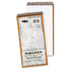 Second Nature Spiral Reporter/Steno Notebook, Gregg Rule, 4 x 8, White, 70-Sheet