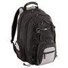 CityGear Chicago Laptop Backpack, Nylon, 15 x 9-1/2 x 18-3/4, Black/Gray/Yellow