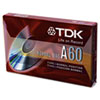 TDK Standard Grade Audio & Dictation Cassette, Normal Bias, 60 Minutes (30 x 2)