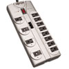 Tripp Lite TLP1208TEL Surge Suppressor, 12 Outlets, 8 ft Cord, 2160 Joules, Silver