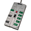 Tripp Lite TLP808NETG Eco Surge Green, 8 Outlets, 8 ft Cord, 2160 Joules, Gray
