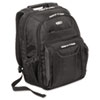 Zip-Thru Air Traveler Backpack, Fits 15.8&quot; Widescreen Laptop, Polyester, Black